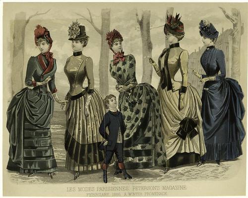 015- Les Modes parisiennes-Un paseo en invierno 1886