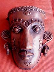 Mask (yogeshvns) Tags: sculpture india art sex yoga painting folkart crafts indian paintings erotica fantasy varanasi artifacts iconography tantra tribalart langscape hinduvaranasi