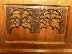 Carved panels St Leonard - Ryton on Dunsmore