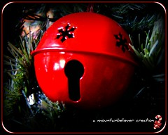 Bells Are Ringing! (mountainbeliever) Tags: christmas decorations red bells colorful christmastree 2008 picnik cowbell treedecorations