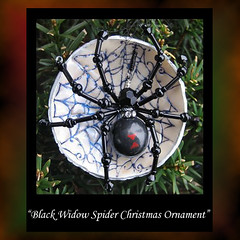 Black Widow Spider Christmas Ornament