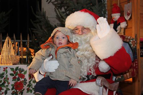 Op schoot bij de Kerstman