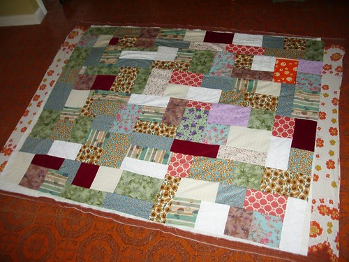 Quilt sandwich for EEs baby quilt