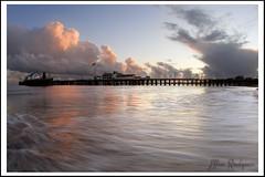 Stormy Sunset in SB (Adam Rondepierre) Tags: ocean santa sunset beach pier canon20d barbara dangit