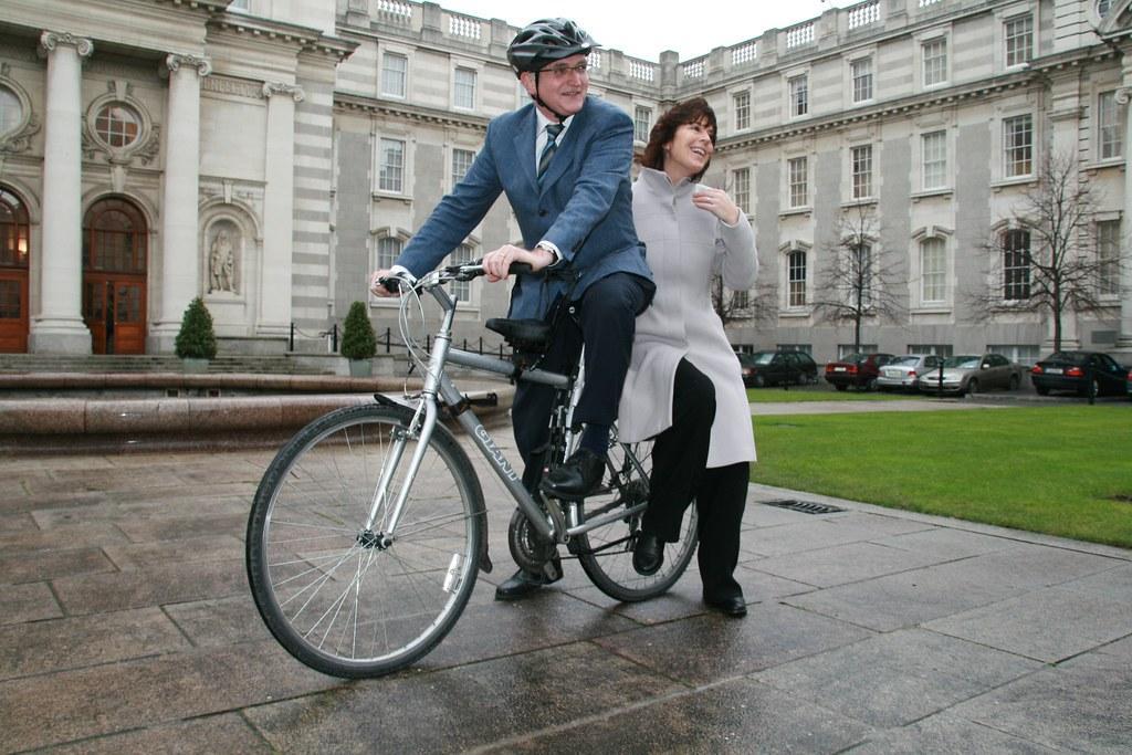 John Gormley Deirdre de Burca cycle scheme