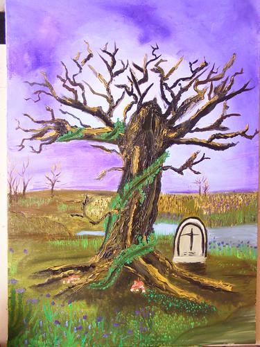 Tomba fra gli alberi