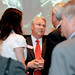 NC State chancellor Randy Woodson meets with Charlotte-area alumni at the Mint Museum on April 26, 2010.
