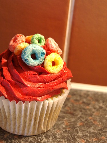 Froot Loops Cupcake