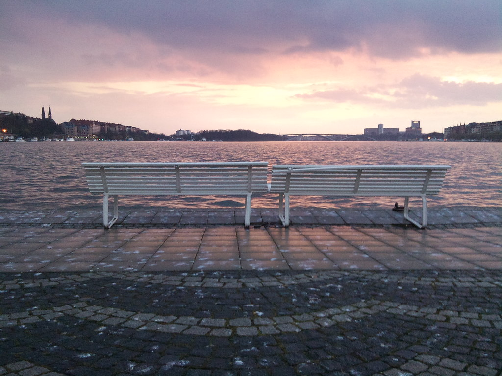 Sunset in the rain over Stockholm City Hall - 7