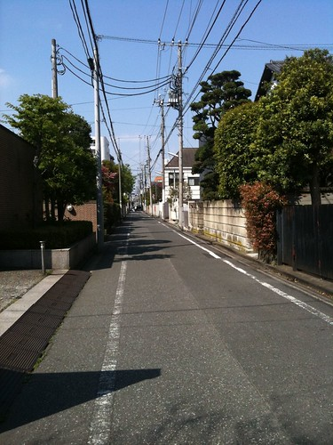 Typical suburban street in west Tokyo