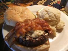 Bacon and bleu burger