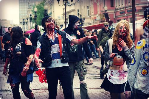 Зомби-парад | Москва . Арбат . 14.05.2011