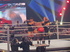 jackson held up while barrett delivers a boot to the head (bballchico) Tags: seattle wwe keyarena thecore wadebarrett overthelimit ezekieljackson
