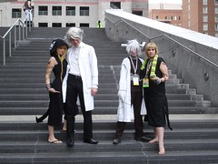 Animazement 2011 Saturday: Soul Eater Photoshoot - Stein & Medusa (Futuregirl_LeahRiley) Tags: costumes anime pose screw costume nc cosplay nick saturday northcarolina raleigh doctor frankenstein soul convention otaku labcoat franken medusa stein eater animazement meister animeconvention 2011 souleater doctorstein souleatercosplay animazement2011 animazement2011saturday