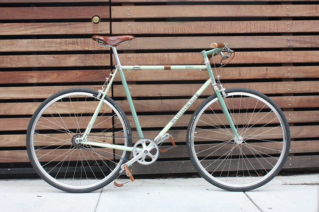 611 Bike Co. Gates Carbon Drive single speed townie.