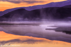 Flat Creek at Jackson (James Neeley) Tags: sunrise landscape wyoming grandtetons tetons hdr jacksonhole gtnp flatcreek 5xp jamesneeley