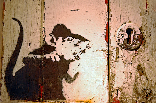 Lock Picking Rat by Banksy