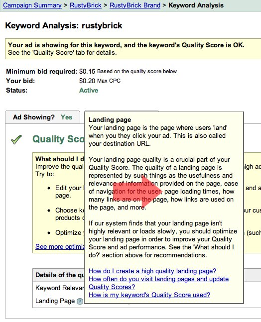 AdWords Page Load Times Grade