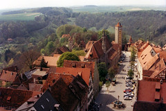 Rothenburg (Rathaus Tower view - Klingengasse) (WVJazzman) Tags: germany rothenburgobdertauber romanticroad rathaustowerview