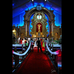 The Wedding Photographer (Soul101) Tags: wedding church parish lights photographer cross altar aisle event norte redcarpet entourage stjohnthebaptist daet camarines mywinners theweddingphotographer nikond40 soul101