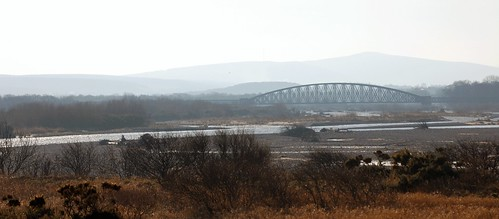 The Old Spey Railway Bridge from Spey Bay