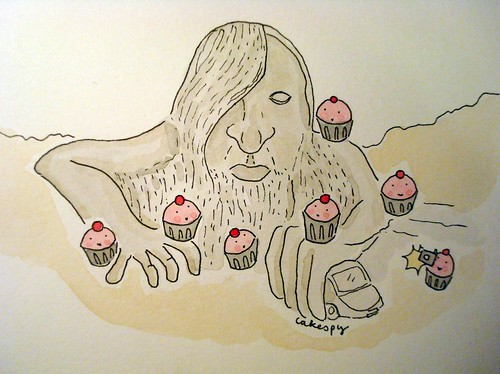 Cupcakes with the Fremont Troll