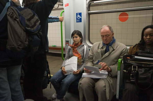 Peter Marshall spotted Ken Livingstone on the Tube