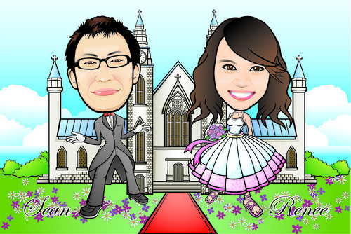 Q-Digital Caricatures - Wedding