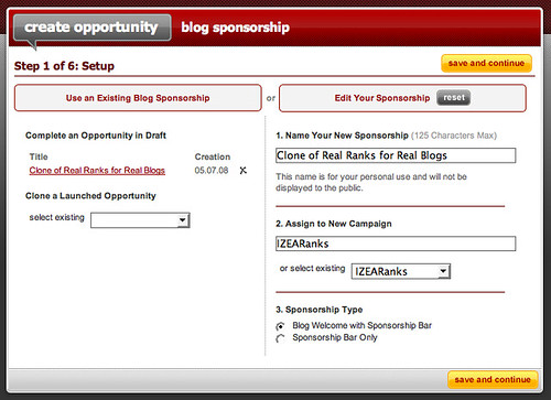 create blog sponsorship