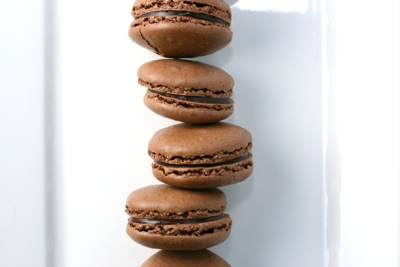 david lebovitz's chocolate macarons