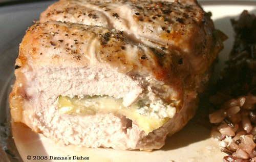 Stuffed Pork Chops: The Inside