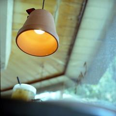 rollei-perspective / pot light ; rollei /  (bubustudio) Tags: life 120 6x6 film rolleiflex cafe kodak taiwan taipei portra 400vc