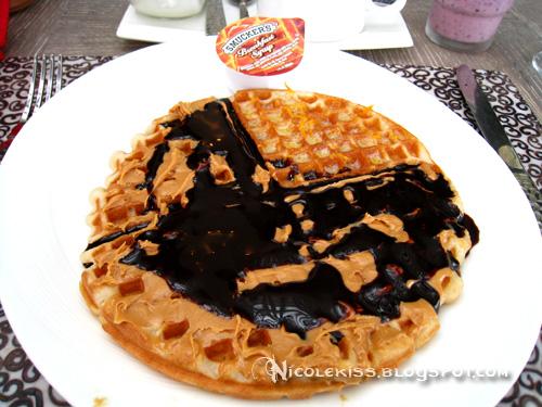 waffle at breakfast