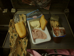 10160005 (ketou-daisuki) Tags: food fish cheese breakfast train bread pain ham casio fromage tgv cannedfood jambon gorgonzola formaggio gv20 danette petitdjeuner