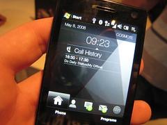 HTC Touch Diamond Call History