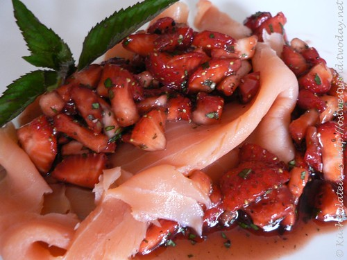 Smoked Coho Salmon with Strawberry Salsa