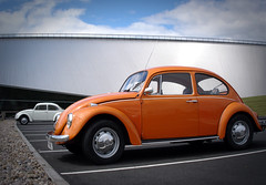Polly at RAF Cosford (dooogewalah) Tags: show original orange classic car june vw club sedan vintage bug volkswagen beetle historic 1970s 1972 2008 raf kever type1 cosford kaefer