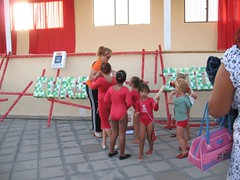 Getting their certificates (John Beckley) Tags: gymnastics tenerife gabriella piedrahincada