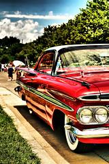 Impala Americana (crashmattb) Tags: classic chevrolet automobile bokeh plugin impala carshow hotrods canonef50mm18ii canoneosdigitalrebelxti platinumphoto anawesomeshot adobephotoshopcs3 diamondclassphotographer flickrdiamond redynamix dcetools goodguysrodcustom 3rdnashvillenationals medichance