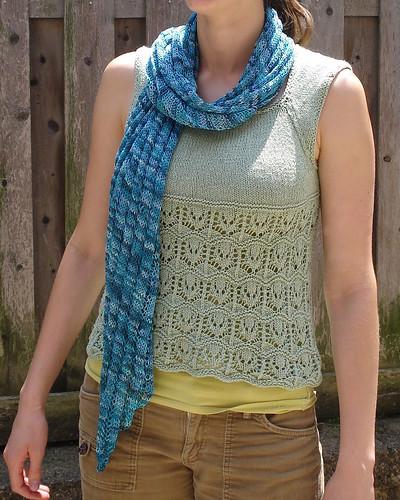 Clapotis knit in Alchemy Silken Straw