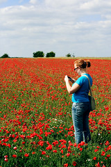 Haven (nataliej) Tags: flowers red field sarah poppy poppies cambridgshire metr sarahisfun the157milebikeride