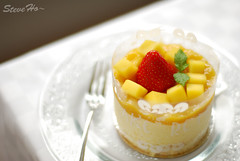 mango cream cake (*steveH) Tags: food cake dessert strawberry colorful sweet explore homemade mango steveh mangocake