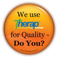 Graphics of We use Therap for Quality - Do You? button