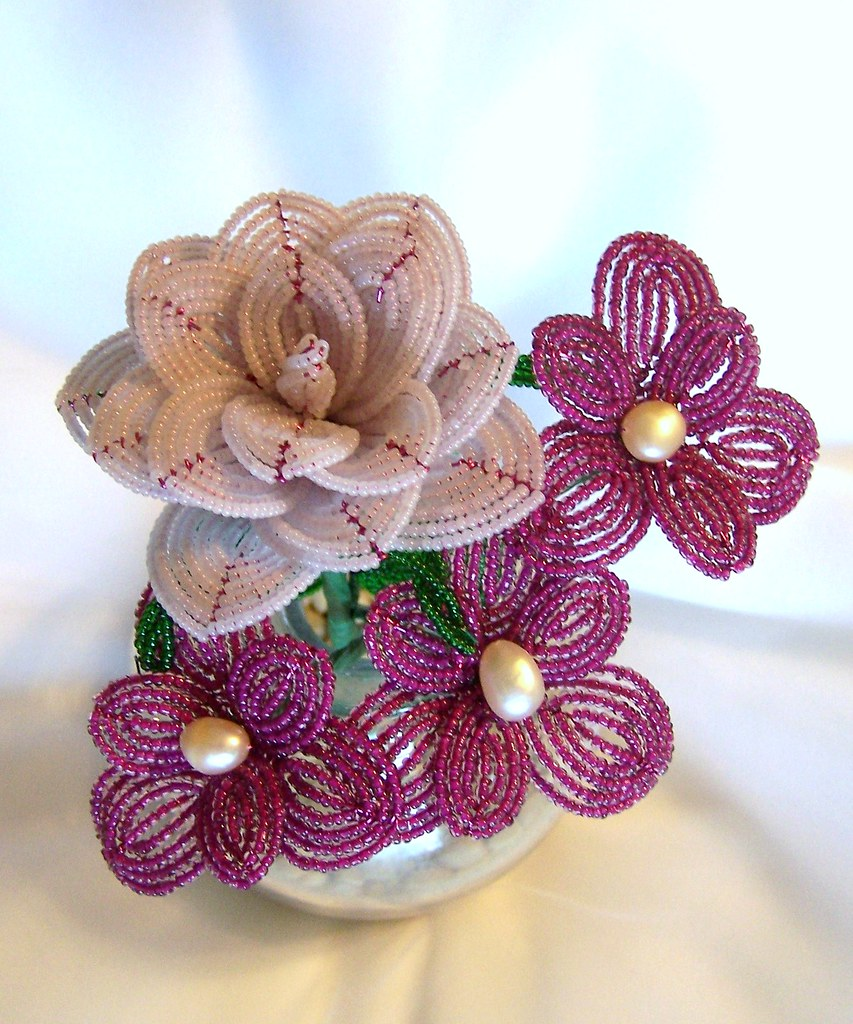 French Beaded Flower Arrangement