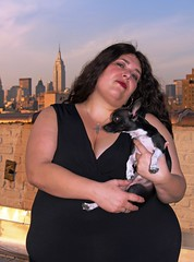 Kira Nerusskaya by David Shankbone (david_shankbone) Tags: newyorkcity dog eastvillage chihuahua rooftop dusk fat bbw lowereastside documentary creativecommons stockphotos wikipedia empirestatebuilding redlipstick publicart fatgirl obesity filmmaker alphabetcity overweight stockimages blackdress stockphotography publicphotography loisaida wikimediacommons bigbeautifulwoman maledog freephotos crossnecklace curvygirl largegirl freeimages kiranerruskaya bydavidshankbone shankboneorg