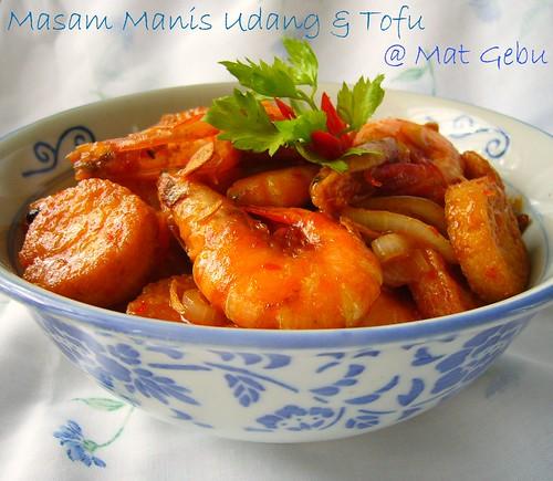 Masam Manis Udang & Tofu