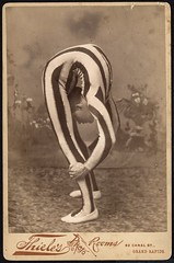 Contortionist, posed in studio (by George Eastman House)