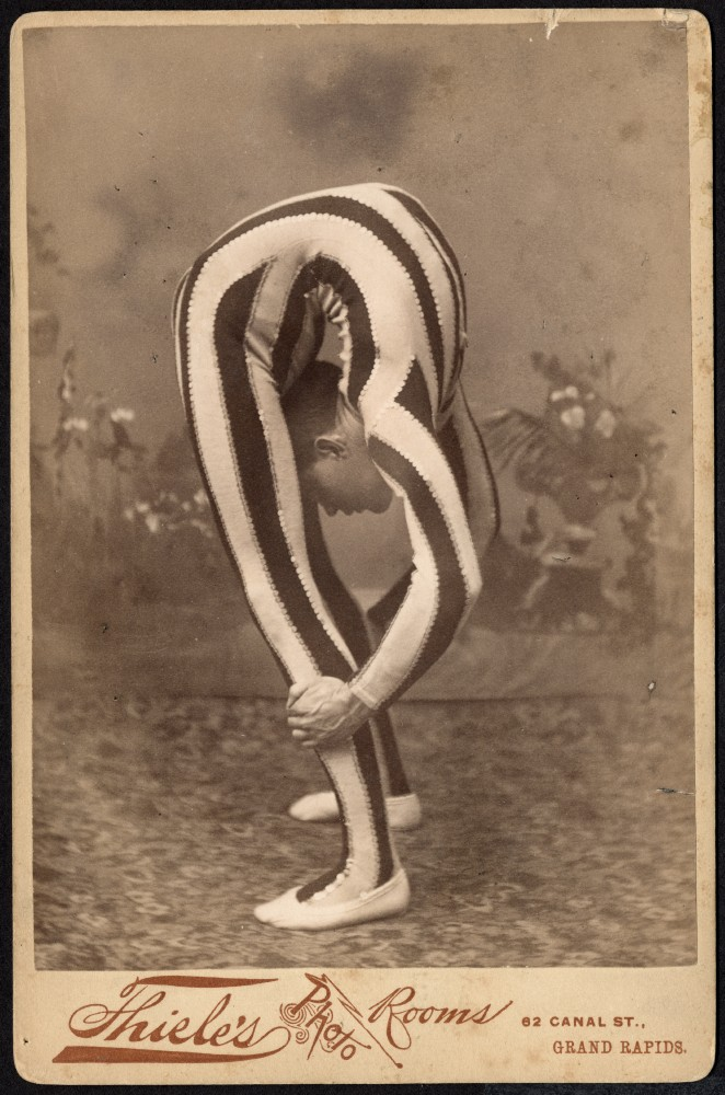 Contortionist, posed in studio
