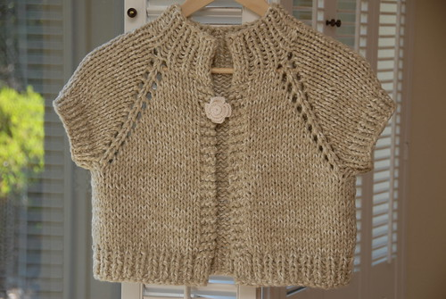 Anthropologie-inspired Chunky Knit Shrug