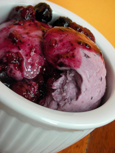 blueberry-sour cream ice cream